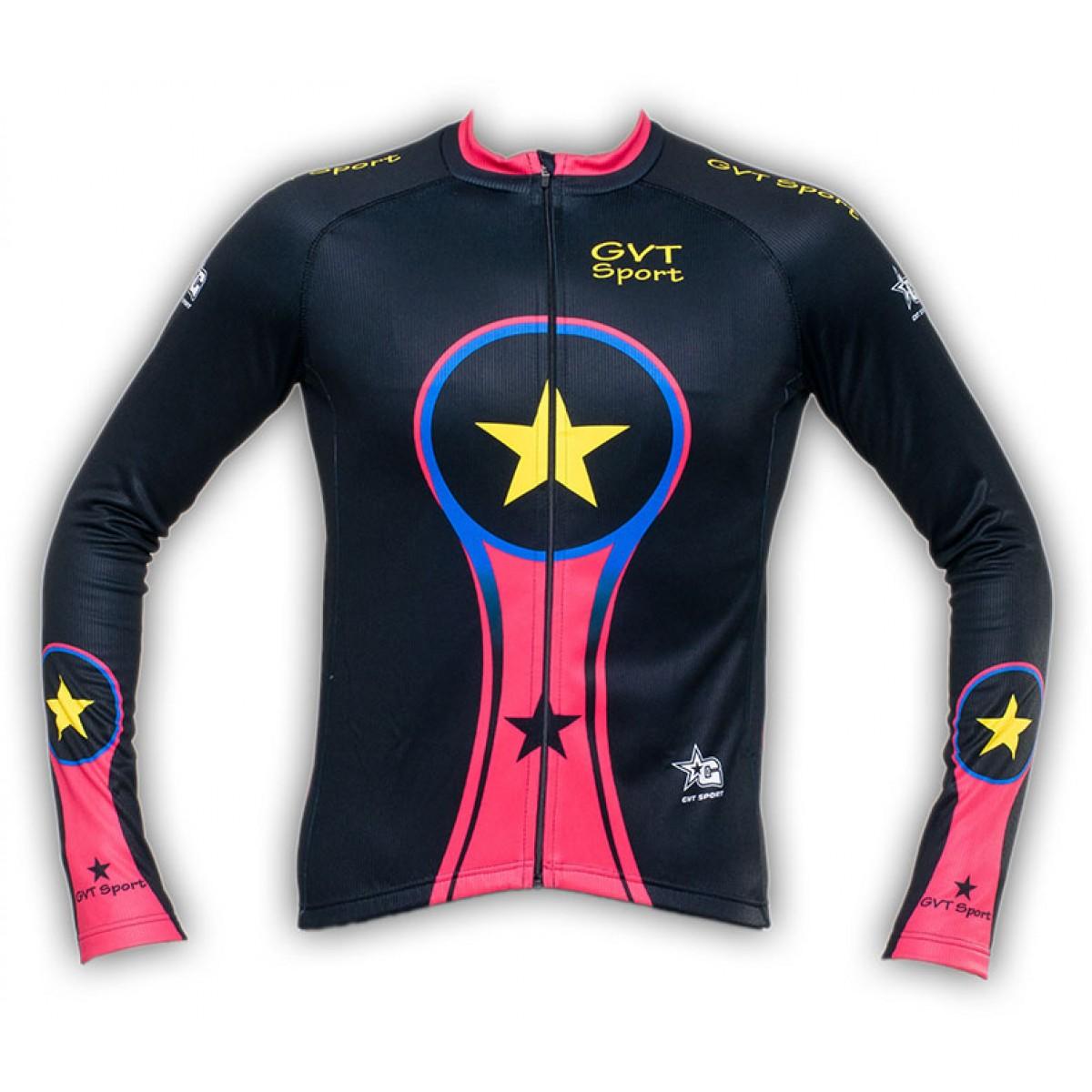 maillot cyclisme manche longue gvt bike colors. Black Bedroom Furniture Sets. Home Design Ideas