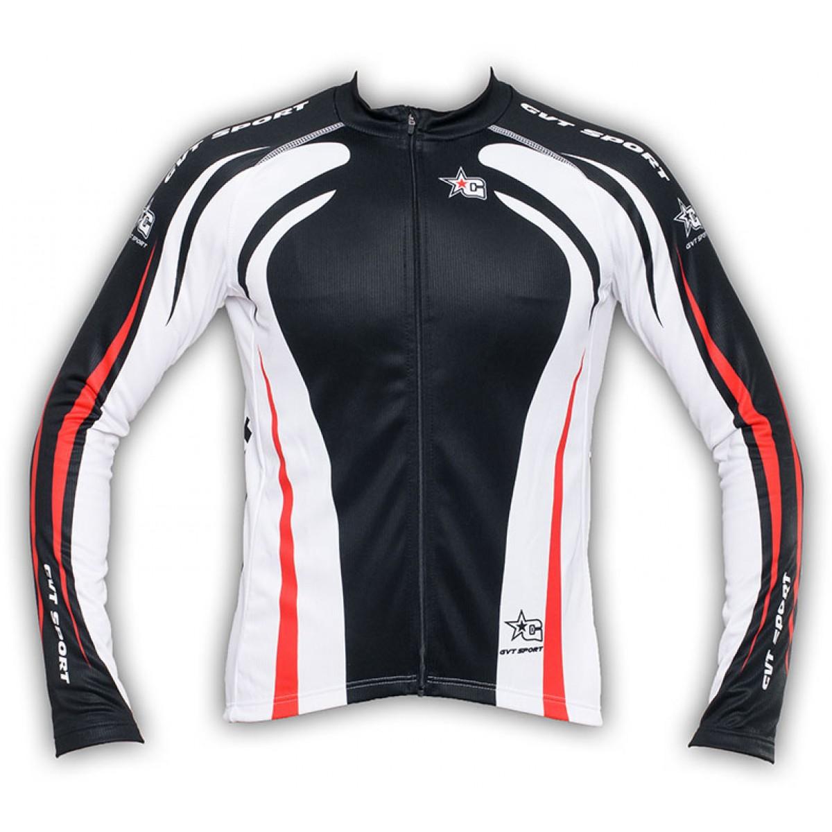 maillot cyclisme manche longue gvt red star 39 s bike. Black Bedroom Furniture Sets. Home Design Ideas