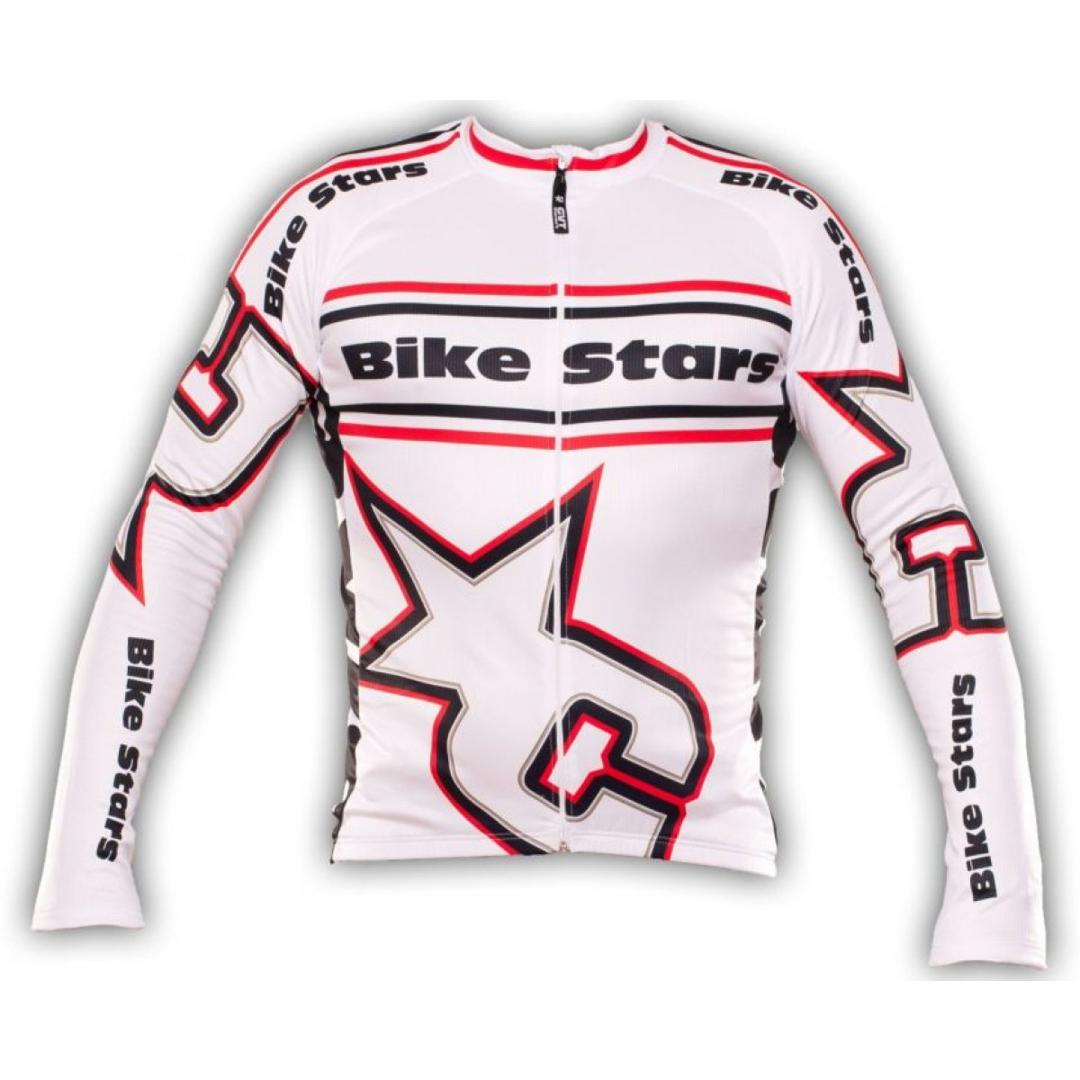 maillot cyclisme manche longue bike stars blanc. Black Bedroom Furniture Sets. Home Design Ideas