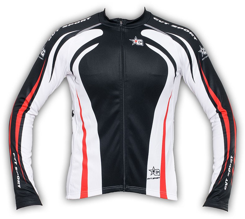 maillot cyclisme manche longue gvt red star 39 s bike. Black Bedroom Furniture Sets. Home Design Ideas