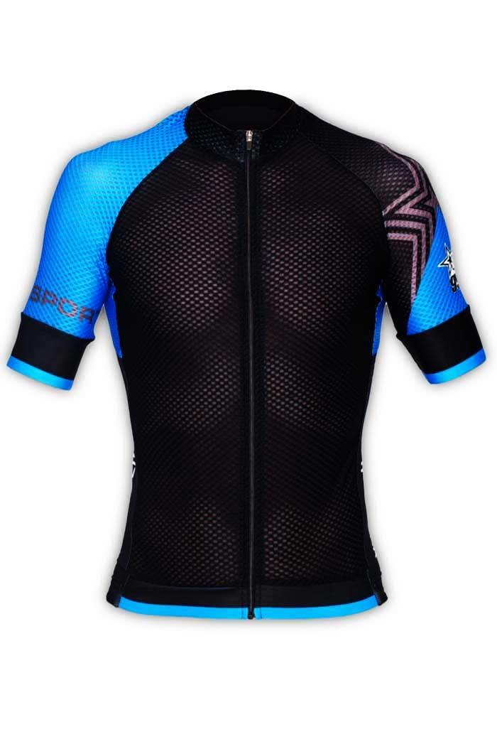 multiple colors look out for the sale of shoes Maillot cycliste GVT Pro Light Bleu