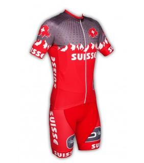Maillot et cuissard GVT Suisse Cyclisme
