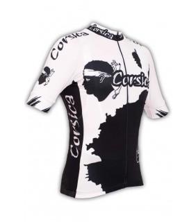 maillot cyclisme GVT original Corsica noir et blanc