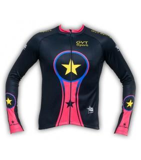 maillot cyclisme manche longue gvt bike colors