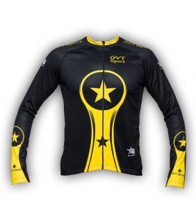 Maillot Cyclisme Manche Longue Yellows Stars