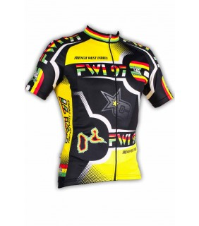 Maillot cycliste GVT FWI Guadeloupe