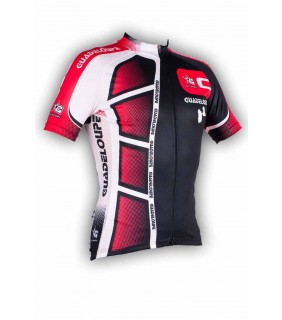 Maillot cycliste GVT Guadeloupe rouge