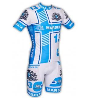 Maillot et cuissard GVT Marseille cyclisme