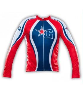 maillot cyclisme manche longue paris bike