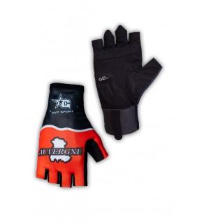 Paire de gants cyclisme pro Auvergne orange
