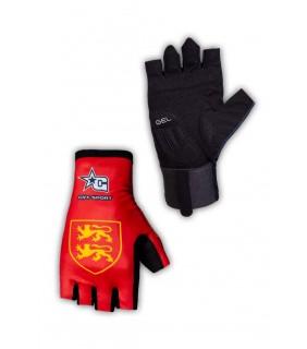 Paire de gants cycliste pro GVT Normandie