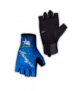 Paire de gants vélo pro GVT Auvergne bleu