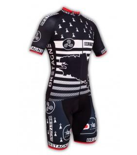 Tenue cycliste GVT Bretagne Vélo + Paire de gants et chaussettes Cycliste
