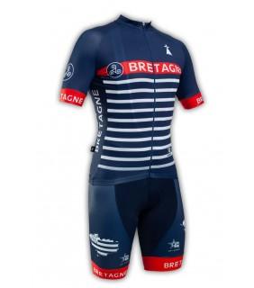 Tenue cycliste GVT Bretagne Marine + Paire de gants et de chaussettes cycliste