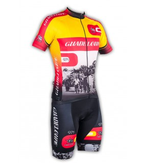 Ensemble cycliste GVT Guadeloupe 971 + chaussettes cyclistes