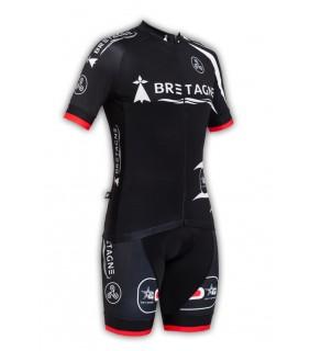 Tenue cycliste GVT Bretagne Cycling + Paire de gants et chaussettes Cycliste