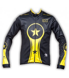 veste cycliste thermique windstop gvt yellows stars