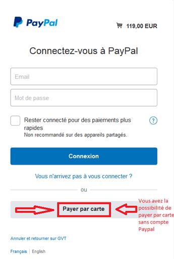 Payer par carte bancaire
